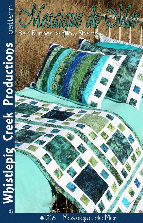 green bed runner and pillow shams
