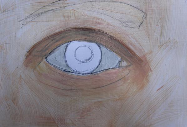 Painting gray in eyeball