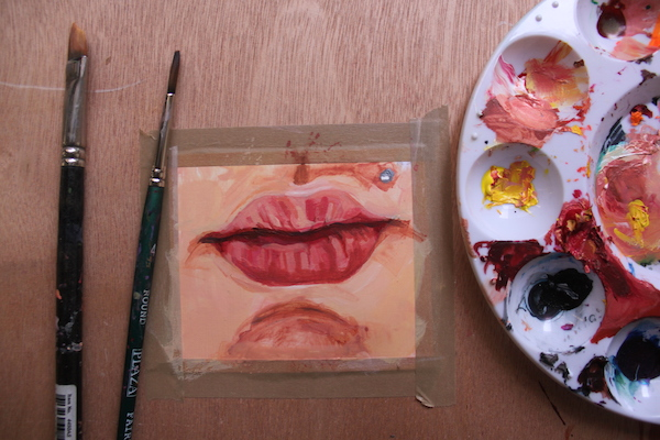 Lip painting complete