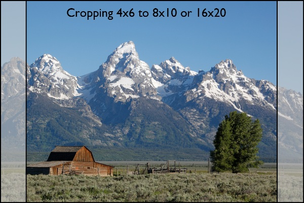 cropping, crop for 8x10, Grand Tetons, Mormon Row
