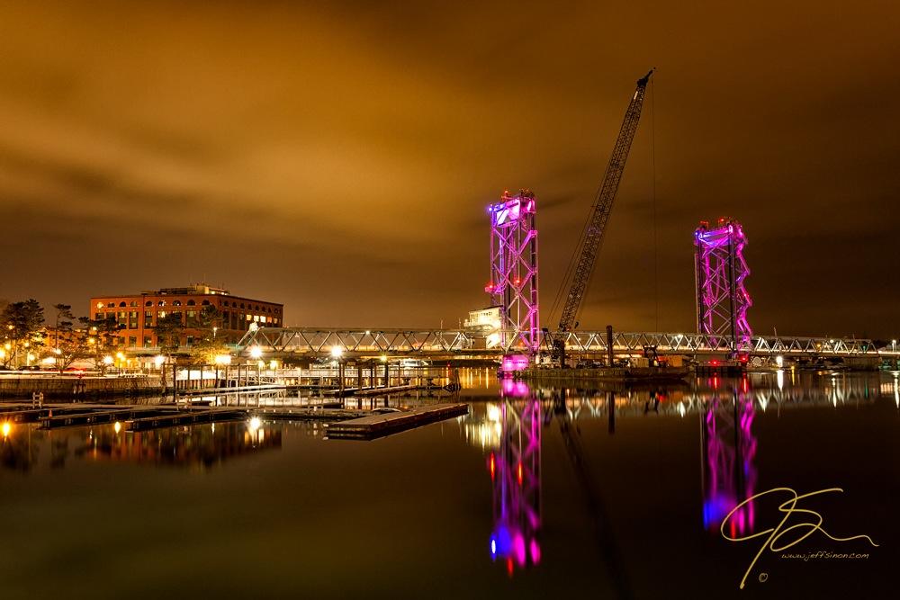 The New Memorial Bridge At Night