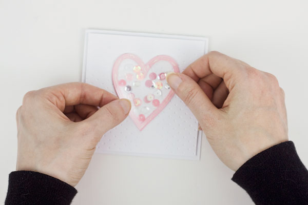 How to Make a Shaker Card : Method 2, Step 3