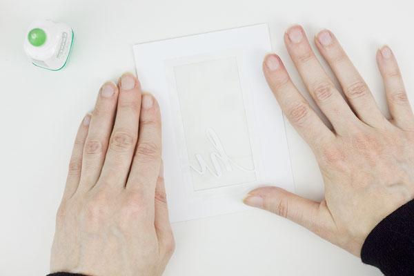 Make a Shaker Card : Method 3, Step 2