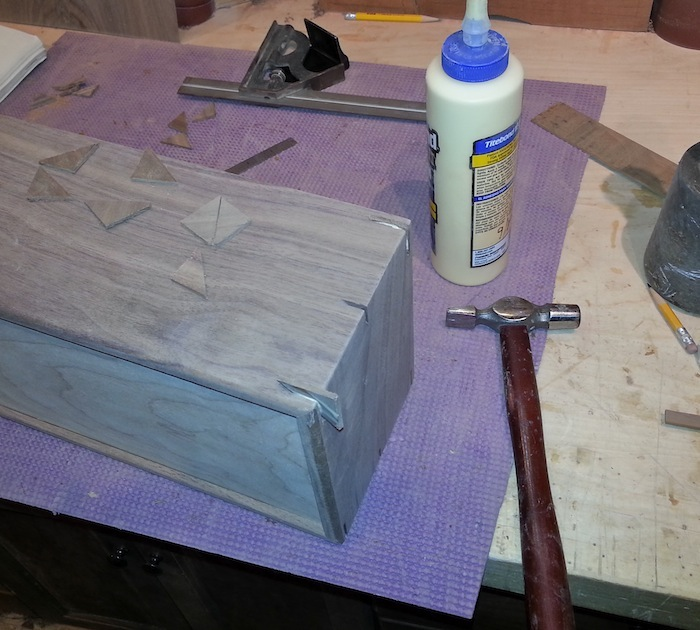 glue splines into place