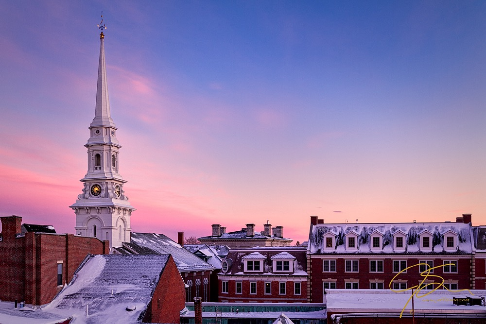 Winter Roof Tops, Portsmouth, NH