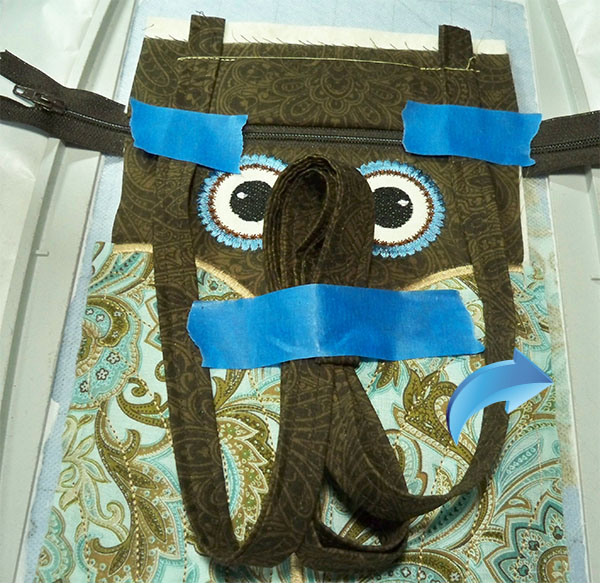owl taped strap layers