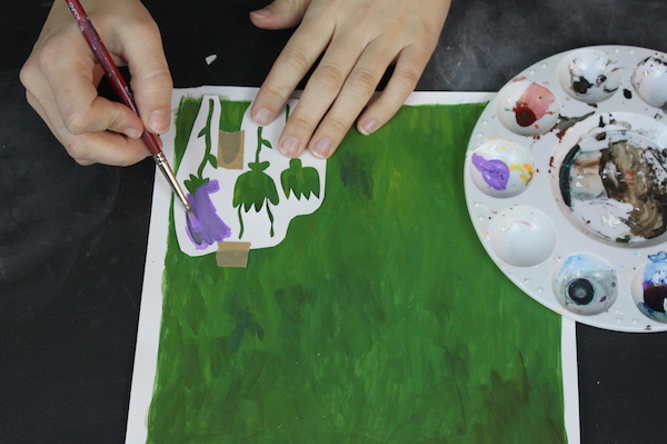 Painting in stencils