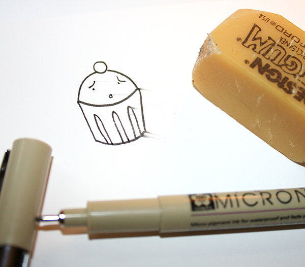 Smeared pen