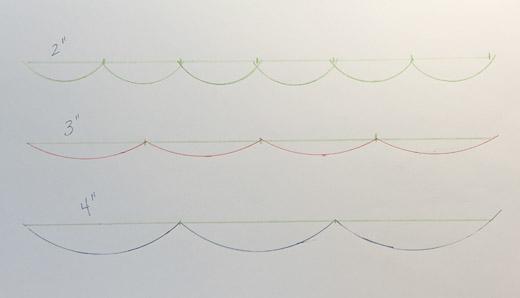 scallop designs on paper