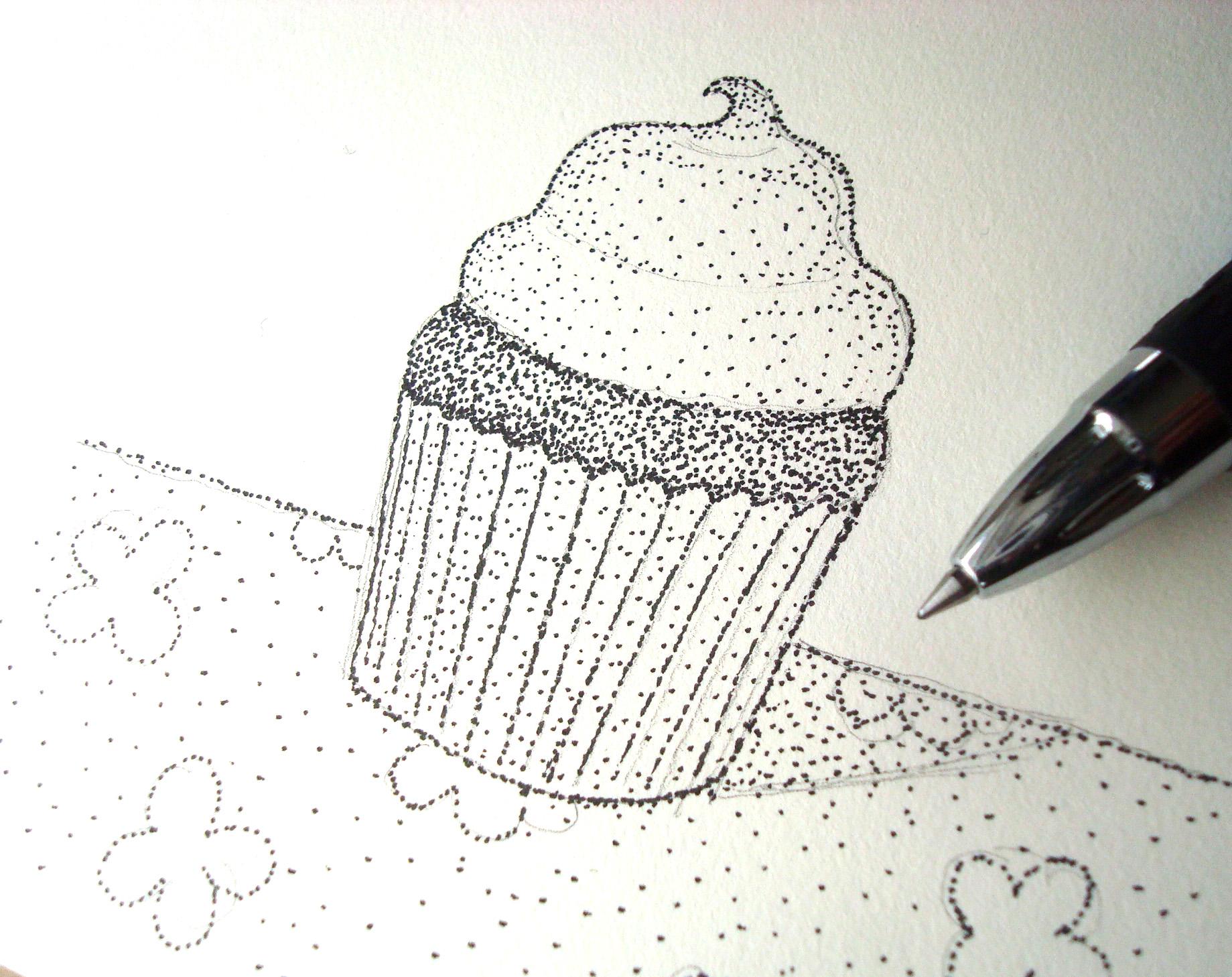 Stippled drawing