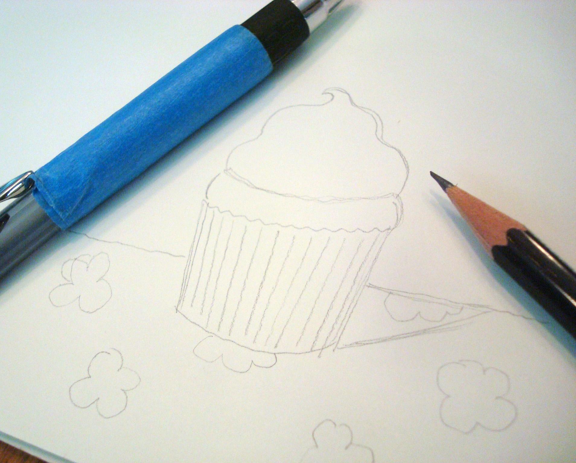 Sketch before stippling