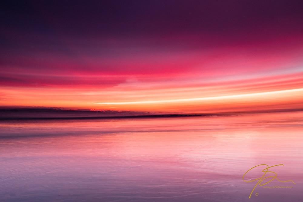Abstract sunrise over the seacoast