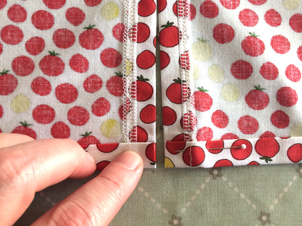 fold and pin hem