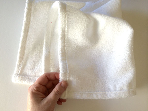 finished hemmed cloth towels