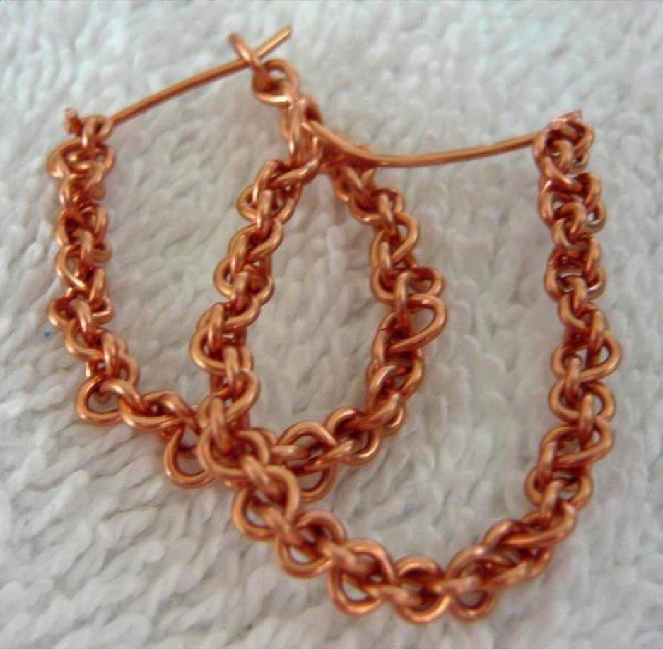 criss cross wired earrings