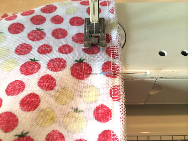 sew the seam to the mark