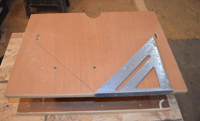measure 45 degree angle