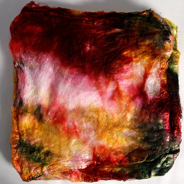 dyed silk hankies