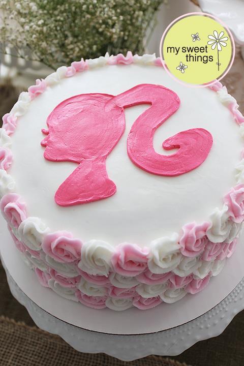 Barbie buttercream cake