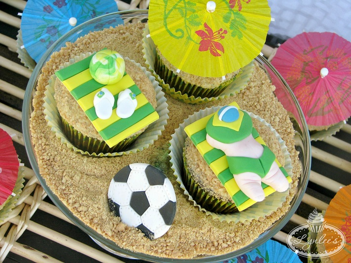 Beach Cupcake Toppers