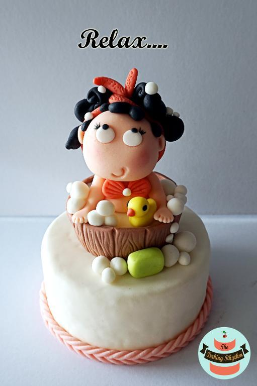 Bubble Bath Girl Fondant Topper