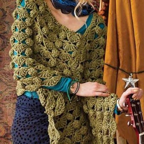 Bulky Poncho Crochet Pattern