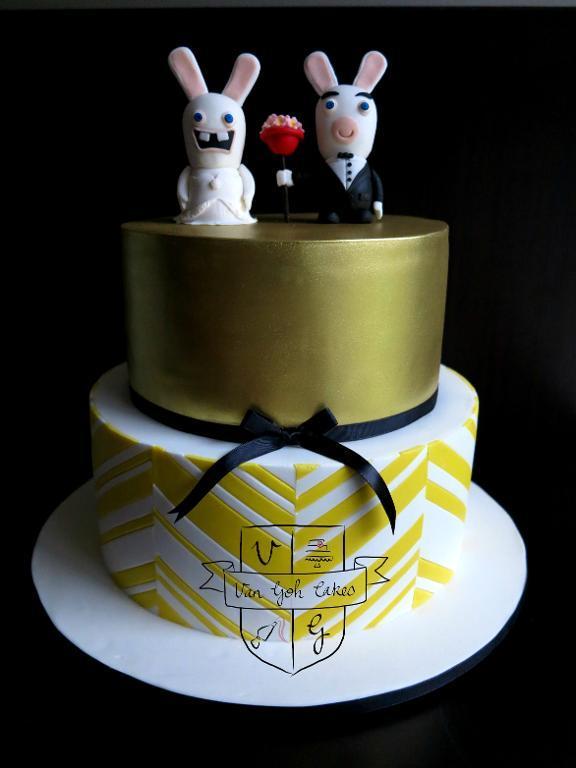 Bunnies Wedding Cake Toppers