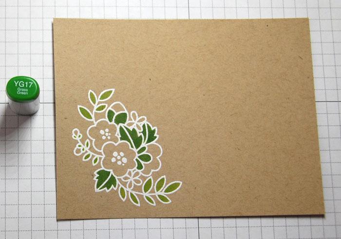 Step 6 Coloring darker leaves