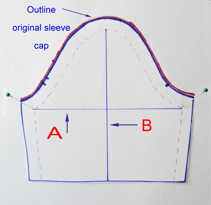 Trace original sleeve pattern