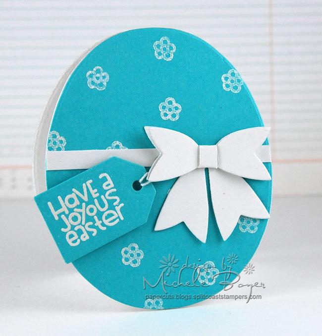 Finished egg shaped card