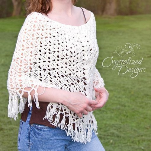 Fairy Lace Poncho Crochet Pattern