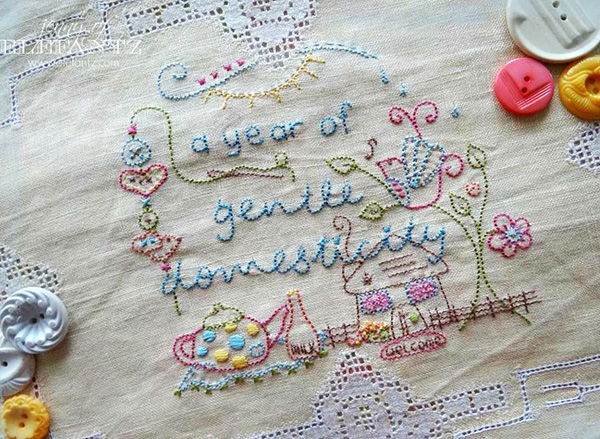 Gentle Domesticity a stitchery