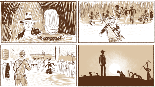 Compositional study from Raiders of the Lost Ark