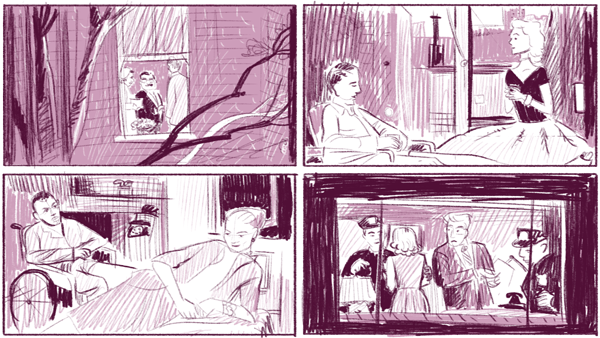Compositional study from Rear Window