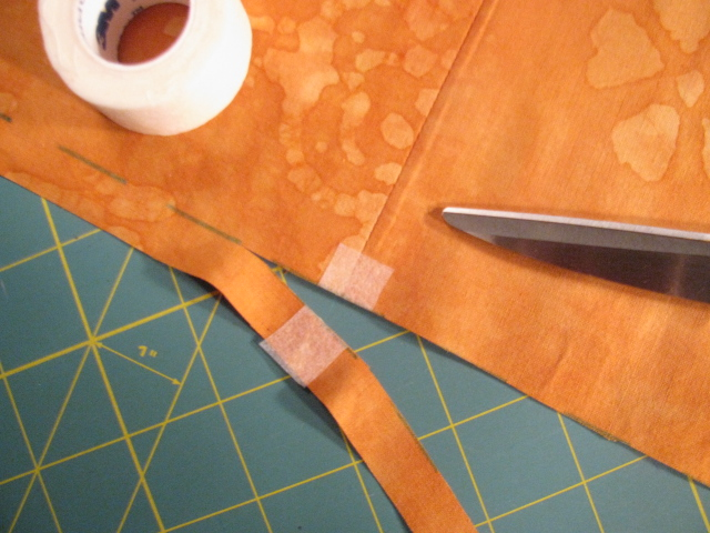 how to use tape for sewing