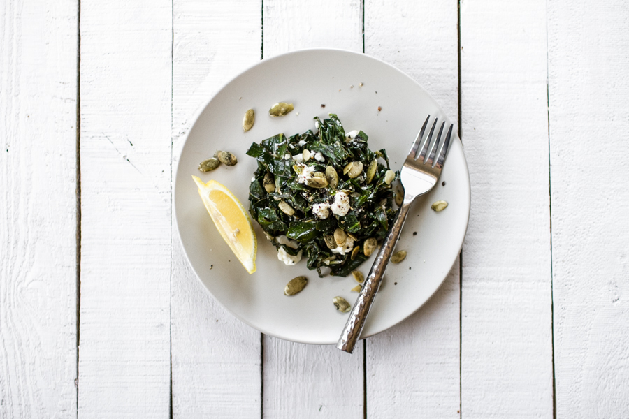 Simple Sauteed Lemony Greens