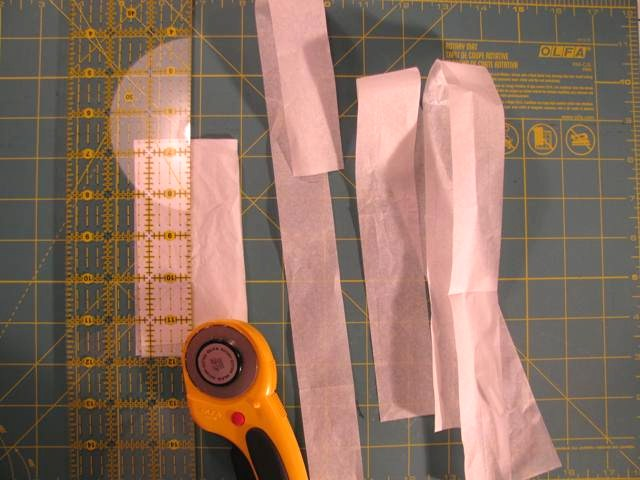 tissue paper and a rotary cutter