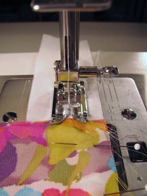 tissue paper to help with sewing