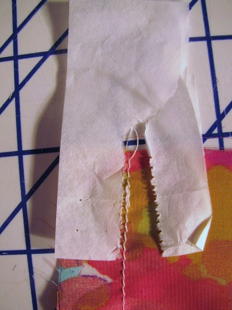 how to use tissue paper for sewing projects