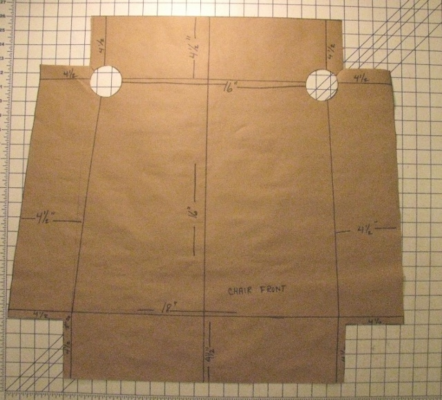 drafting the chair slipcover pattern