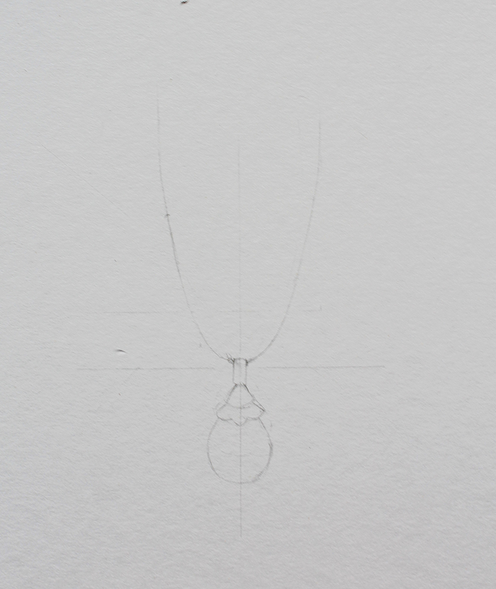 Drawing necklace step 1