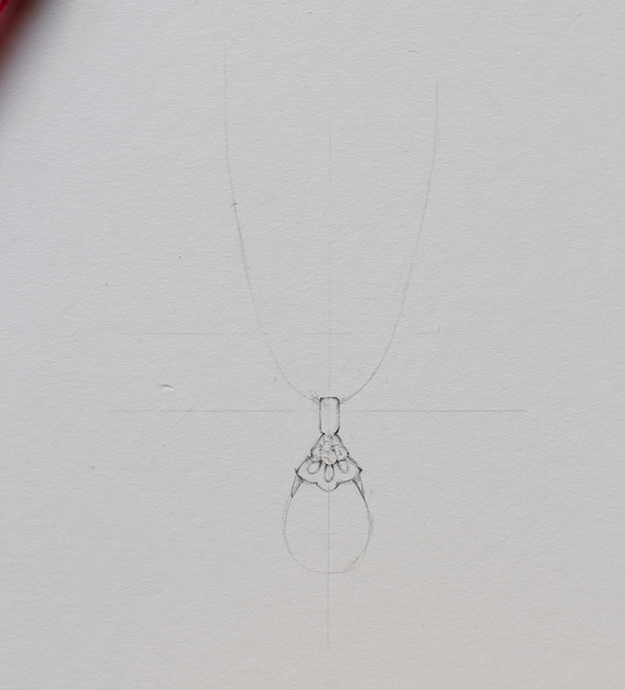 Drawing necklace step 2