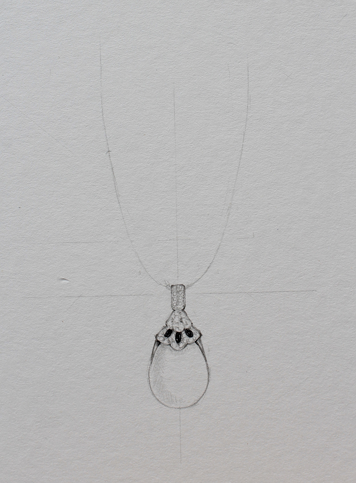 Drawing necklace step 3