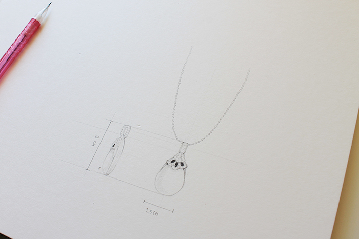 Drawing necklace step 5