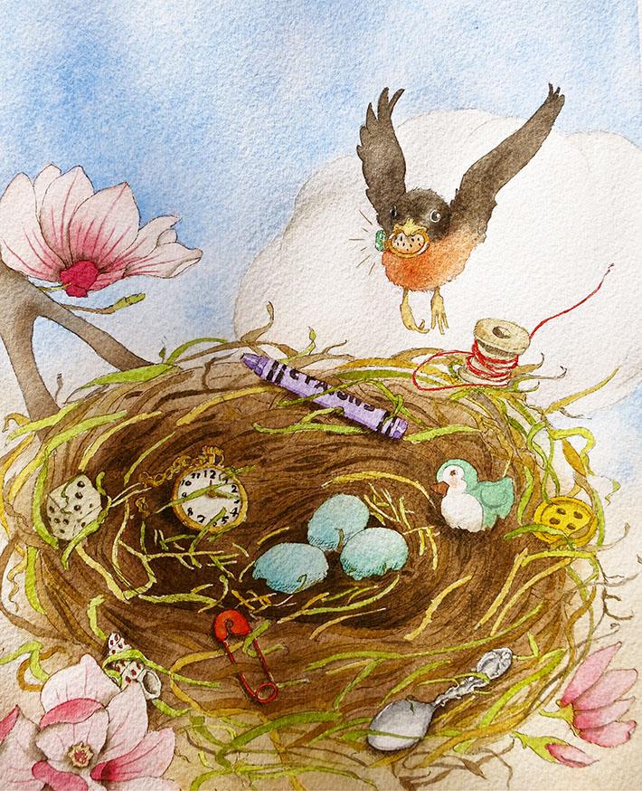 beautiful bird nest