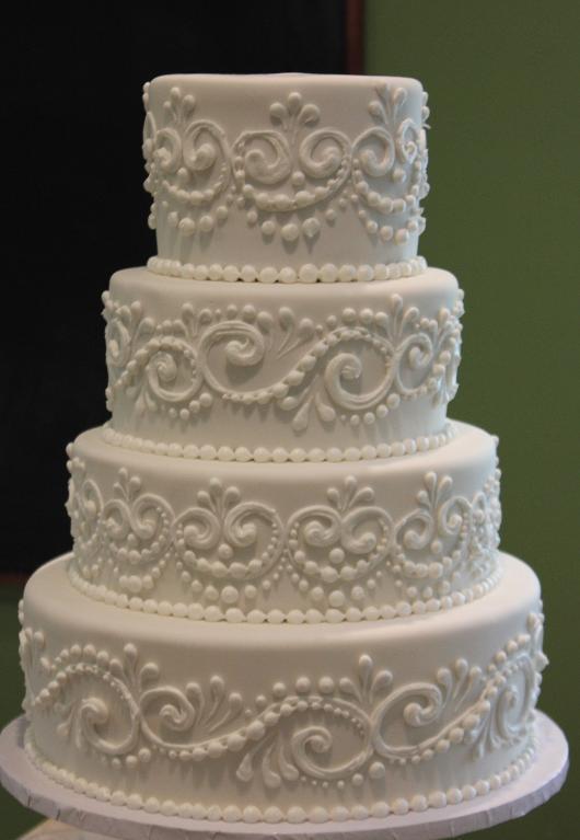 Piped Scroll Wedding Cake Via Bluprint Instructor Joshua John Russell