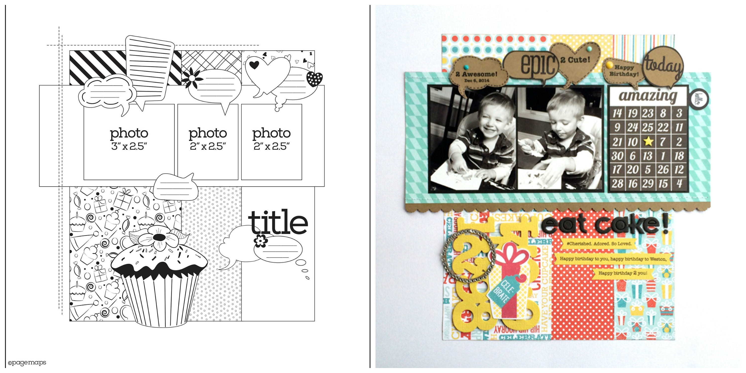 PageMaps laytout sketches beginner scrapbooking