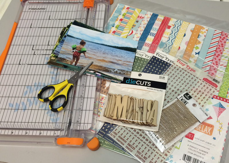 basic supplies for beginner scrapbooking