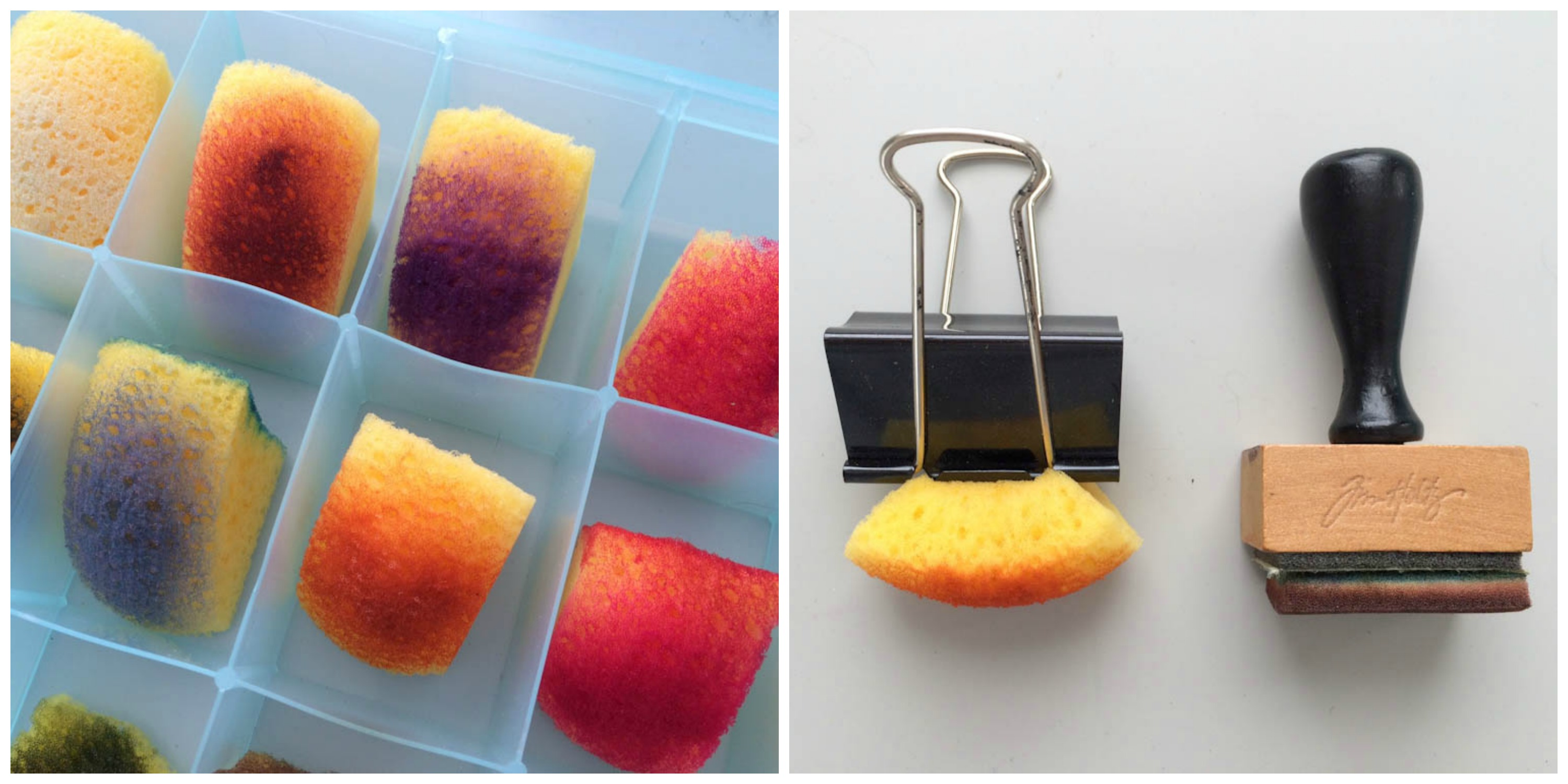 Paper Craft Hacks: DIY sponge inking tools