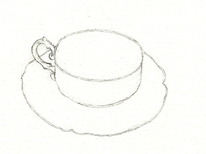 Refined teacup sketch